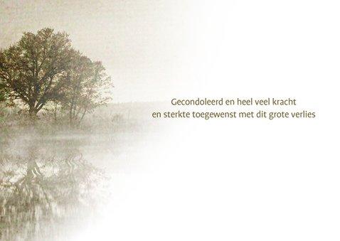 Condoleancekaart bomen aan meer 3