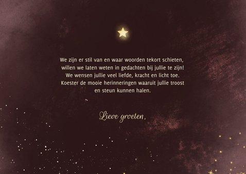 Condoleancekaart bordeaux met sparkles 3