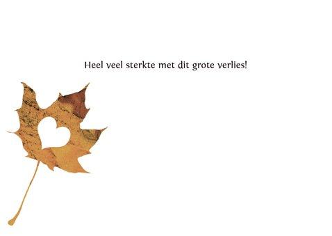 Condoleancekaart herfstbladeren grungy 3