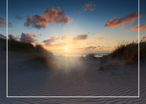 Condoleancekaart met een foto van de Hollandse Duinen 3