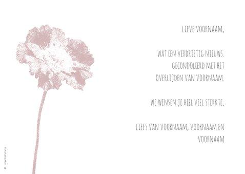 Condoleancekaart scabiosa 3