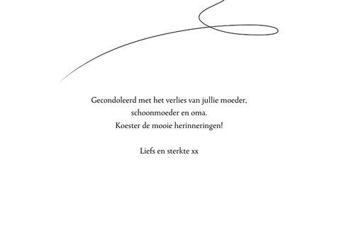Condoleancekaart Vlinder zwart wit 3