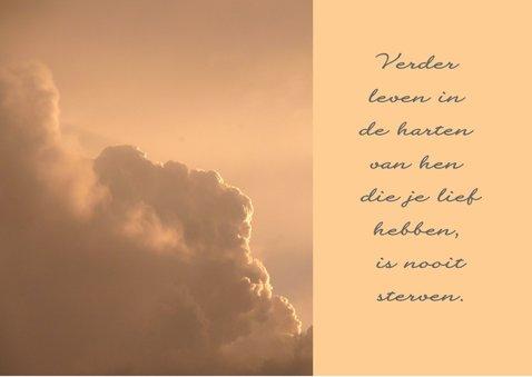 Condoleancekaart Wolken engel - SK 2
