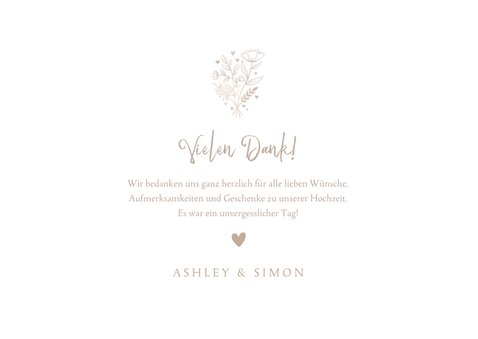 Dankeskarte Hochzeit Fotocollage altrosa 3