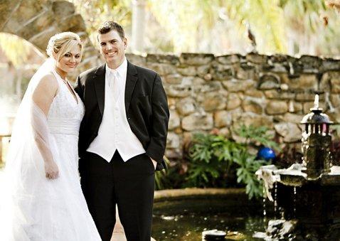 Dankeskarte Hochzeit mit Fotocollage und goldenen Herzen 2