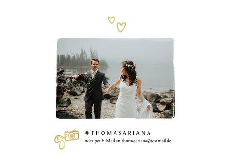 Dankeskarte Hochzeit Pinselstrich Fotocollage 2