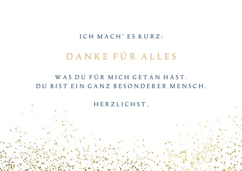 Dankeskarte 'Thank you' 3