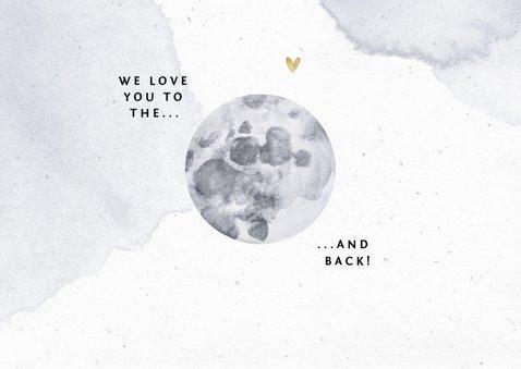 Dankeskarte zur Geburt eigenes Foto und Mond 2