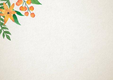 Dankeskarte zur Hochzeit Vintage Blumen mit Foto 2