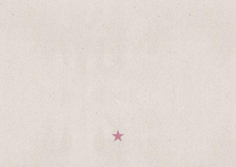 Danksagung Geburt grafisch rosé eigenes Foto Rückseite