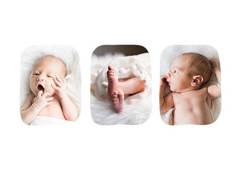 Danksagung Geburt schlicht & pur mit Fotos  2