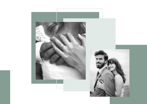 Danksagung Hochzeit Design abstrakt Fotocollage  2
