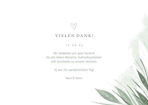 Danksagung Hochzeit Fotocollage zierliche Blätter 3
