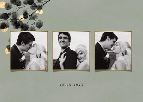 Danksagung Hochzeitsfeier Eukalyptus schwarz Fotos 2