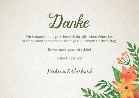 Danksagung Hochzeitsjubiläum Foto und Blumen 3