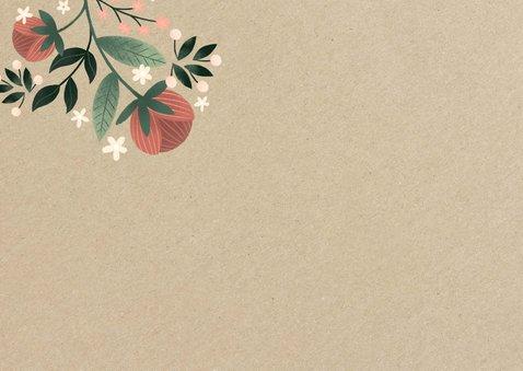 Danksagung Hochzeitstag Blumen auf Kraftpapier 2