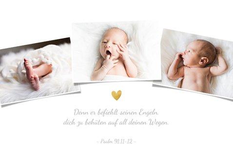 Danksagung Taufe eigene Fotos goldenes Kreuz 2