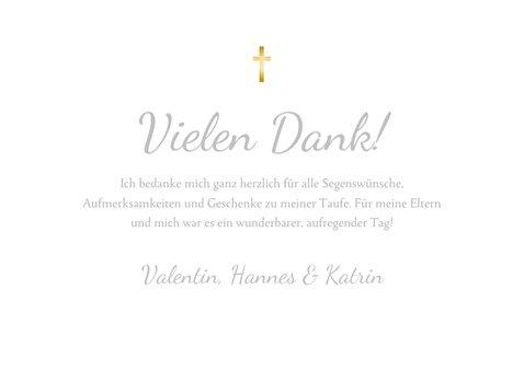 Danksagung Taufe eigene Fotos goldenes Kreuz 3