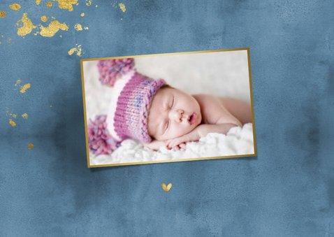 Danksagung zur Geburt dunkelblau mit Godakzenten 2