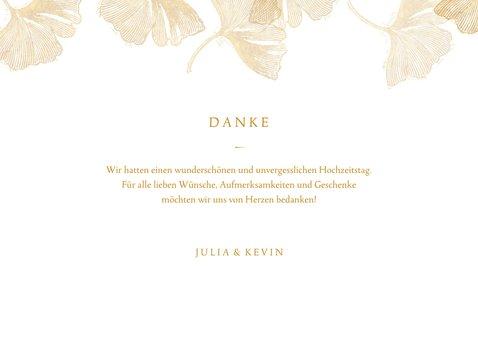 Danksagung zur Hochzeit Ginkgoblätter Stempel Foto innen 3