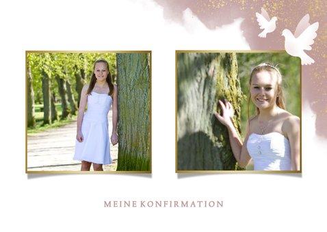 Danksagung zur Konfirmation Foto & weiße Tauben 2