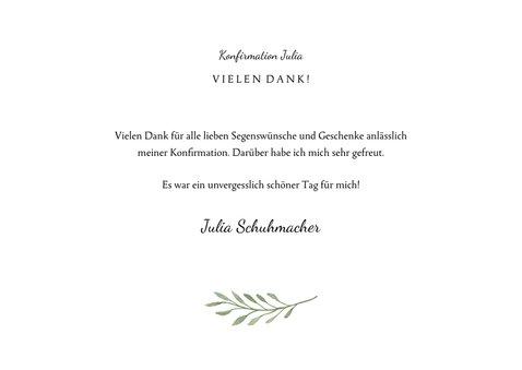 Danksagung zur Konfirmation Foto und botanisches Kreuz 3