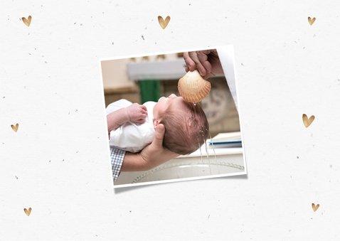 Danksagung zur Taufe Eukalyptus, Fotos und Herzen 2