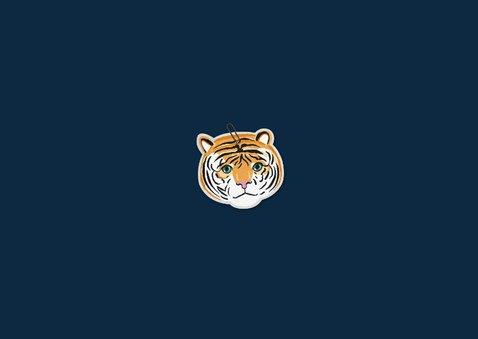 Danksagung zur Taufe Fotos Tierprint und Tiger Rückseite