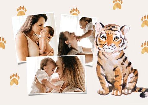 Danksagung zur Taufe süßer Tiger Fotos innen 2
