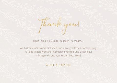 Danksagungskarte Hochzeit feine Zweige 3