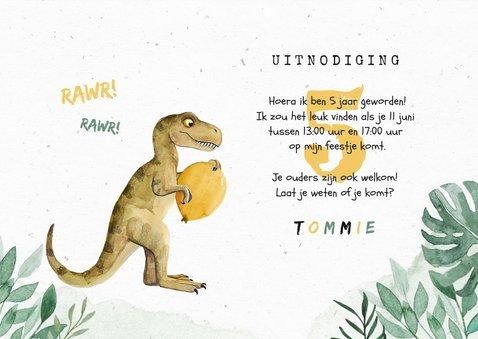 Dinosaurus kinderfeestje waterverf dino ballonnen foto 3