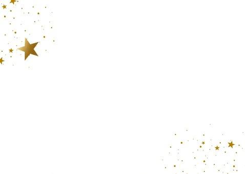 Donkerblauwe nieuwjaarskaart met gouden sterren 2