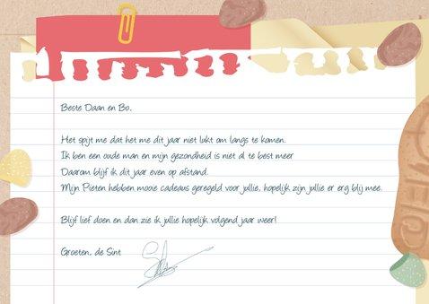 Echte post van Sinterklaas met daarin een brief van de Sint 3