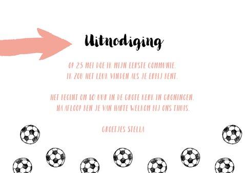 Eerste communie voetbal meisje 3