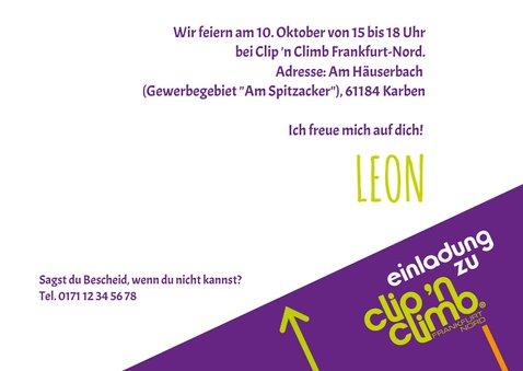 Einladung Clip 'n Climb Frankfurt Nord 3