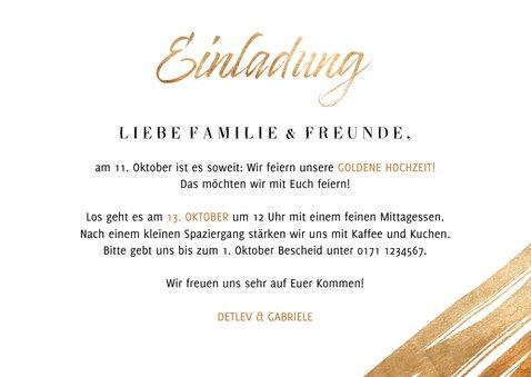 Einladung Goldene Hochzeit Foto & Goldakzente 3