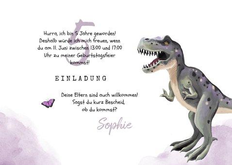 Einladung Kindergeburtstag Dinosaurier Mädchen 3