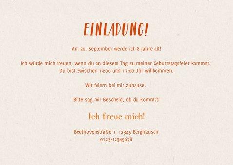 Einladung Kindergeburtstag Foto, herbstliches Muster & Fuchs 3