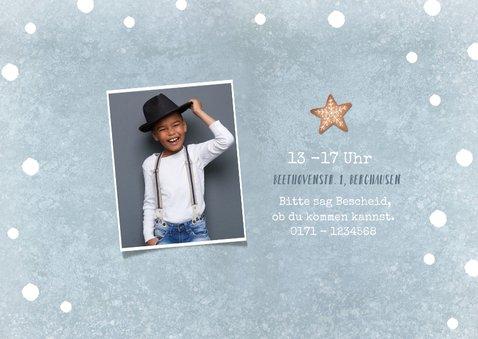 Einladung Kindergeburtstag Junge Winterparty Foto 2