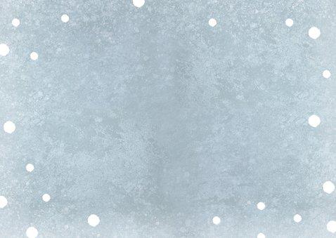 Einladung Kindergeburtstag Junge Winterparty Foto Rückseite