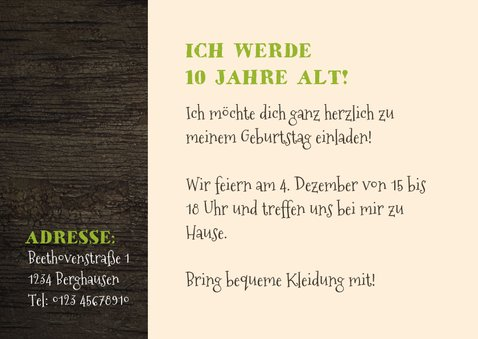 Einladung Kindergeburtstag Kletterwald Niederrhein 3