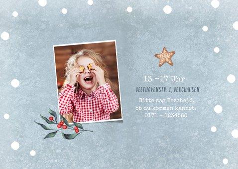 Einladung Kindergeburtstag Mädchen Winterparty Foto 2