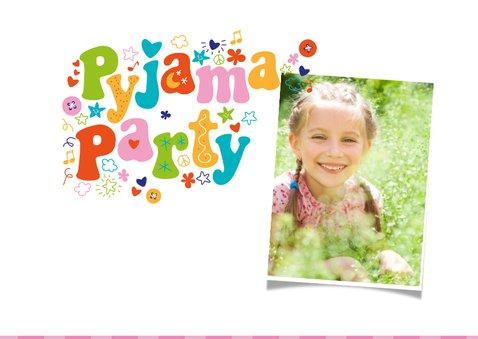 Einladung Kindergeburtstag Pyjamaparty Girls only 2