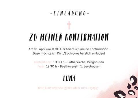 Einladung Konfirmation Foto und Pantherprint 3