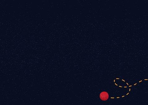 Einladung Minigolf-Party - Funky Lettering Rückseite