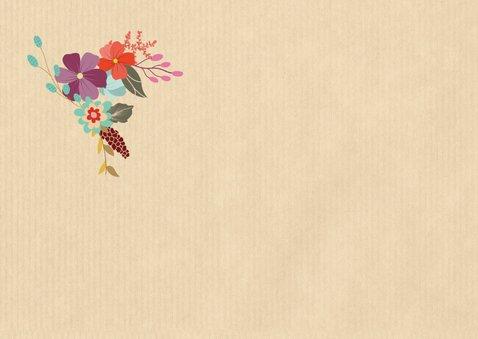 Einladung mit Blumen zum Ruhestand 2