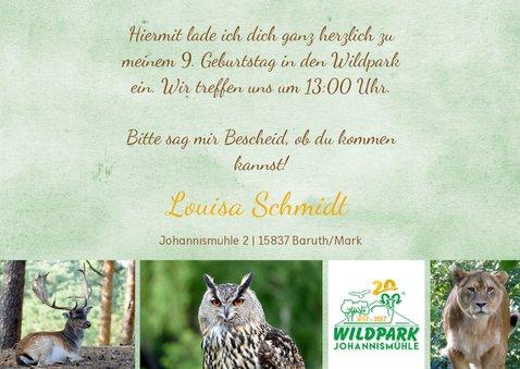 Einladung Wildpark Johannismühle 3