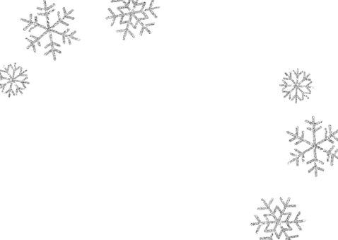 Einladung zum 1. Geburtstag Schneeflocken blau Rückseite