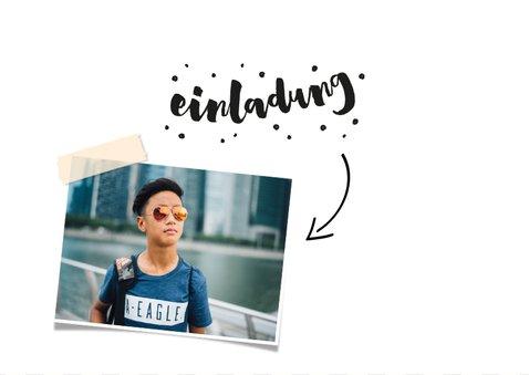 Einladung zum 14. Geburtstag mit Foto und Rahmen 2