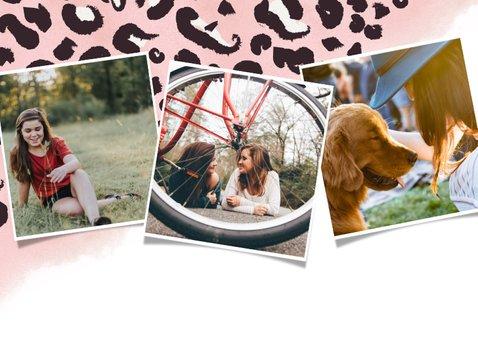 Einladung zum 14. Geburtstag rosa Leopardenmuster 2